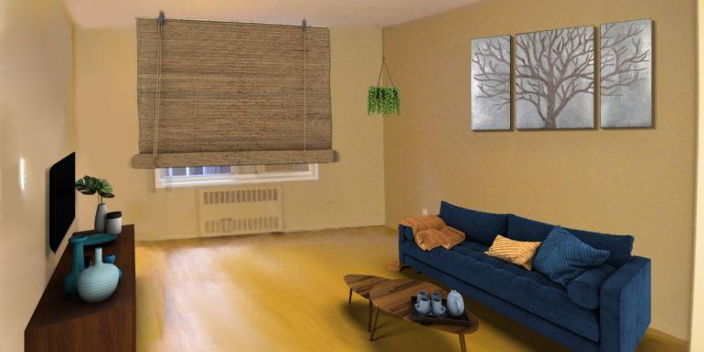 Unfurnished Living room-scene